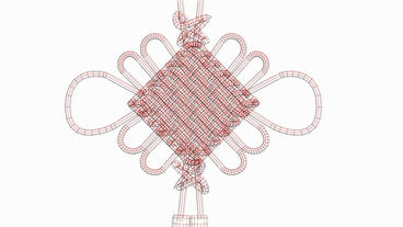 Moving of 3D Chinese knot.culture,oriental,year,festival,lunar,china,Grid,mesh,s Animation