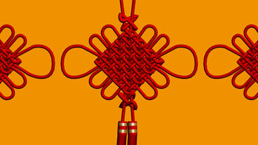 Moving of 3D Chinese knot.culture,oriental,year,festival,lunar,china Animation