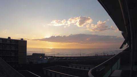 Timelapse of sundown over the ocean Stock Video Footage