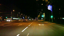 Traffic in the city at night Stock Video Footage