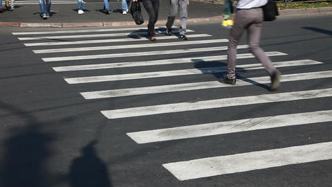 Pedestrian Crossing Sign Stock Video Footage