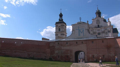 Fortified Carmelite monastery a Stock Video Footage