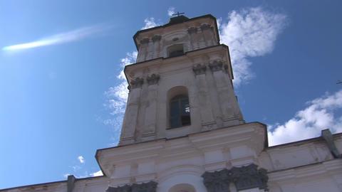 Fortified Carmelite monastery k Stock Video Footage