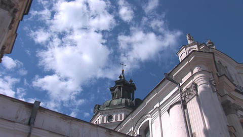 Fortified Carmelite monastery m Stock Video Footage
