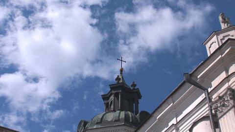 Fortified Carmelite monastery m Stock Video Footage