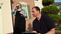 Couple with iPad Stock Video Footage