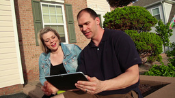 Couple with iPad Footage