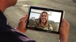 Video Chatting on iPad Stock Video Footage