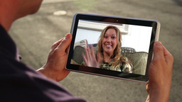 Video Chatting on iPad Footage