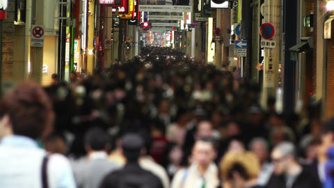 Anonym Crowd in Osaka Slowmotion 1 Stock Video Footage