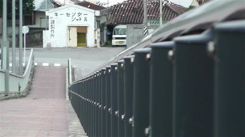 Bridge Fences and Pavement Lowangle in Japan 2 Stock Video Footage