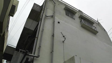 Buildings in Okinawa Islands Lowangle Pan 1 Stock Video Footage