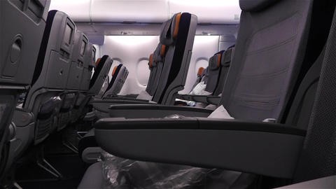 Empty Lufthansa A 380 Flight Crisis 2 Stock Video Footage