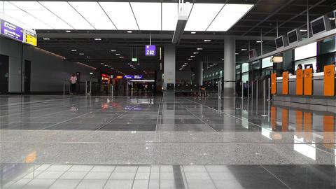 Frankfurt Airport Waiting Area 1 Stock Video Footage