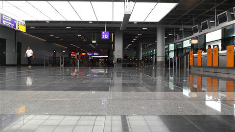 Frankfurt Airport Waiting Area 1 stock footage