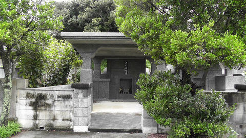 Japanese Cemetery in Okinawa Islands 1 Stock Video Footage