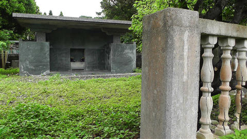 Japanese Cemetery in Okinawa Islands 2 1 Stock Video Footage