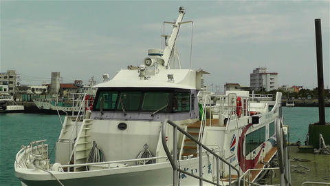Japanese Ship in Port 3 Stock Video Footage