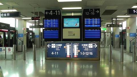 Kansai Airport Osaka Japan 10 handheld Stock Video Footage