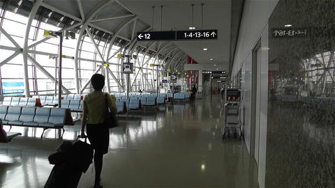 Kansai Airport Osaka Japan 16 Stock Video Footage