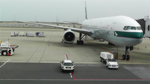 Kansai Airport Osaka Japan 18 cathay pacific Stock Video Footage