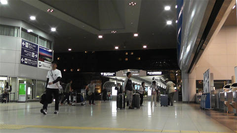 Kansai Airport Railway Station Osaka Japan 2 Stock Video Footage