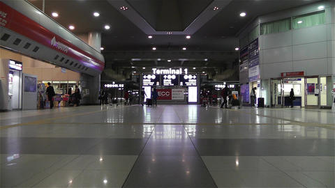 Kansai Airport Railway Station Osaka Japan 4 Stock Video Footage