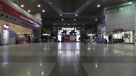 Kansai Airport Railway Station Osaka Japan 4 Stock Video Footage