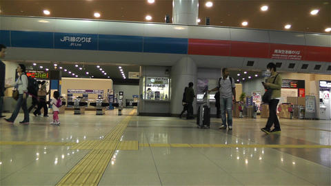 Kansai Airport Railway Station Osaka Japan 9 Stock Video Footage