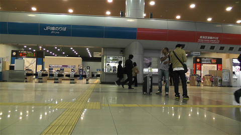 Kansai Airport Railway Station Osaka Japan 9 Footage
