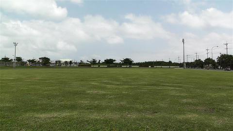 Large Green Field in Japan 1 Stock Video Footage