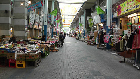 Market in Okinawa Islands Ishigakijima 4 Stock Video Footage