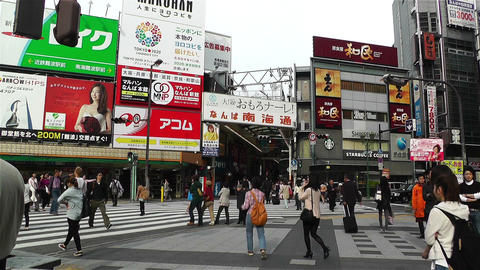 Namba District Osaka Japan 3 Stock Video Footage