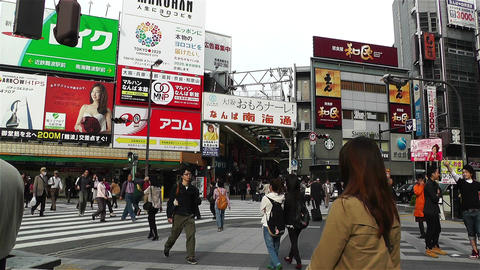 Namba District Osaka Japan 3 Stock Video Footage