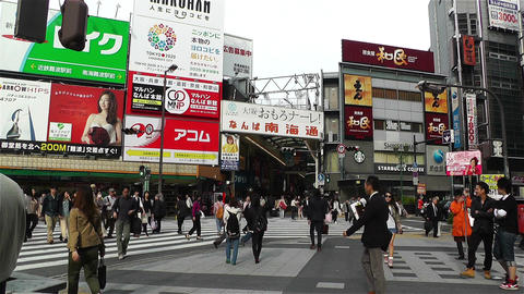 Namba   District   Osaka   Japan  3 stock footage
