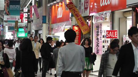 Namba District Osaka Japan 7 Stock Video Footage