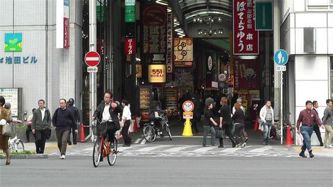 Namba District Osaka Japan 15 Stock Video Footage