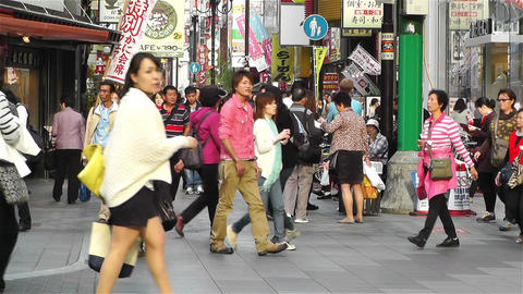 Namba District Osaka Japan 37 Stock Video Footage