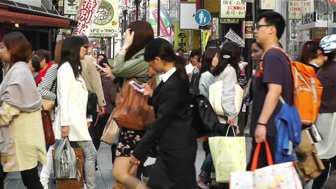 Namba District Osaka Japan 37 Stock Video Footage