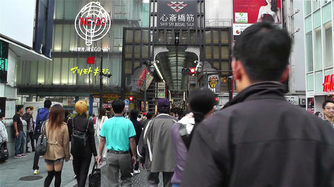 Namba District Osaka Japan 41 Stock Video Footage