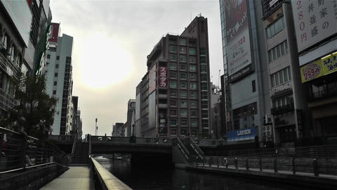 Namba District Osaka Japan 47 Stock Video Footage