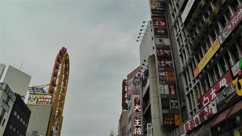 Namba District Osaka Japan 51 pan Footage