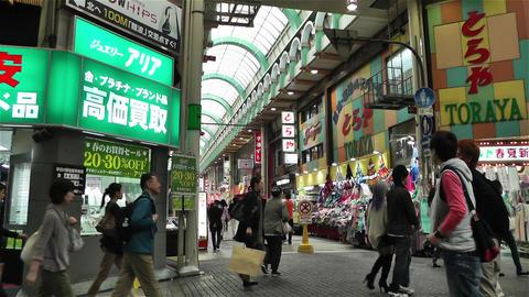 Namba District Osaka Japan 72 pan Stock Video Footage
