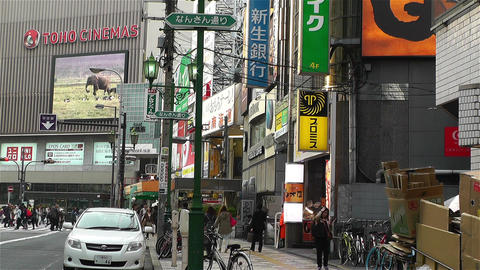 Namba District Osaka Japan 88 Stock Video Footage