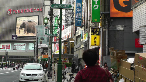 Namba District Osaka Japan 88 Stock Video Footage