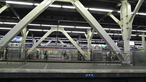 Nankai Namba Station Osaka Japan 2 Footage