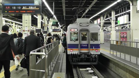 Nankai Namba Station Osaka Japan 4 Stock Video Footage