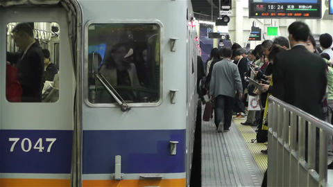 Nankai Namba Station Osaka Japan 9 Stock Video Footage