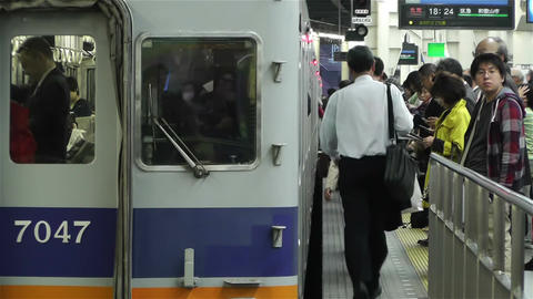 Nankai Namba Station Osaka Japan 9 Stock Video Footage