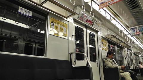Nankai Train in Osaka Japan 3 Stock Video Footage